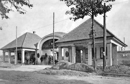 Ehemaliges Haupteinganstor Flüchtlingslager Gmünd_(C) Stadtarchiv Gmünd